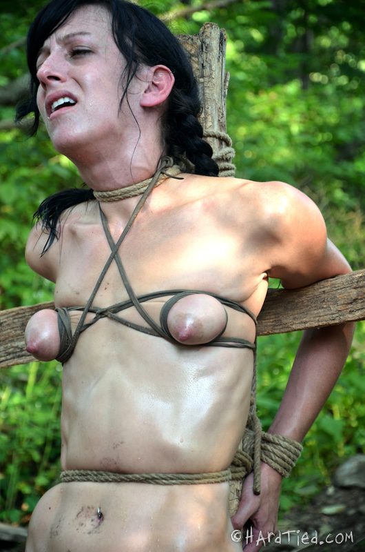 Tied tight tits old