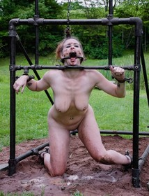 Tortured babe in the mud
